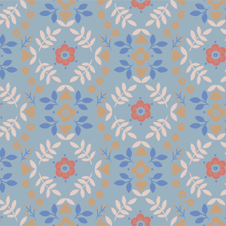 Horses Flower Poplin Fabric