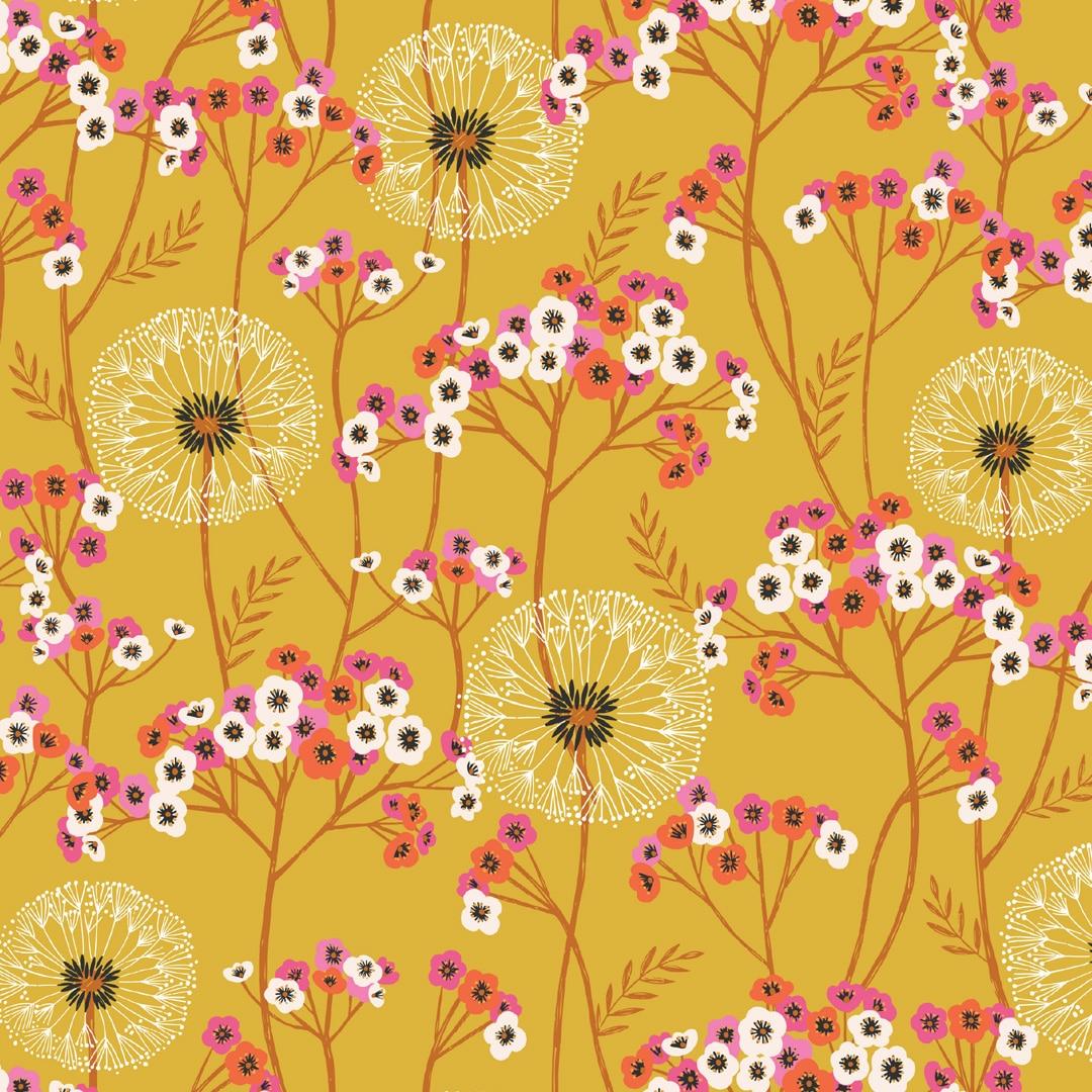 Aviary -  Flowers Ocre