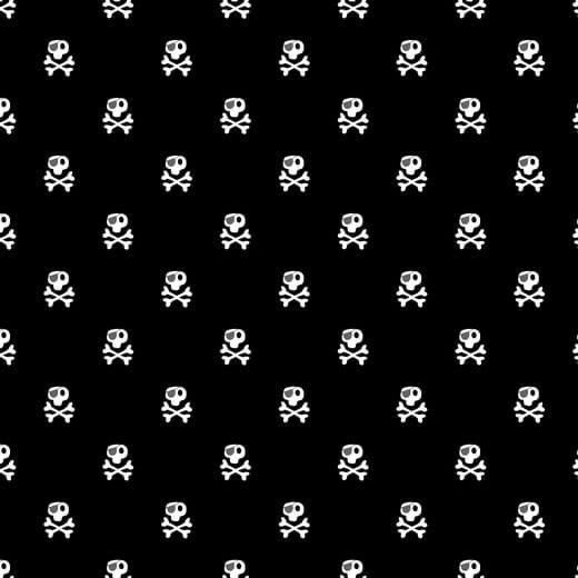 Pirates Skull - Preto