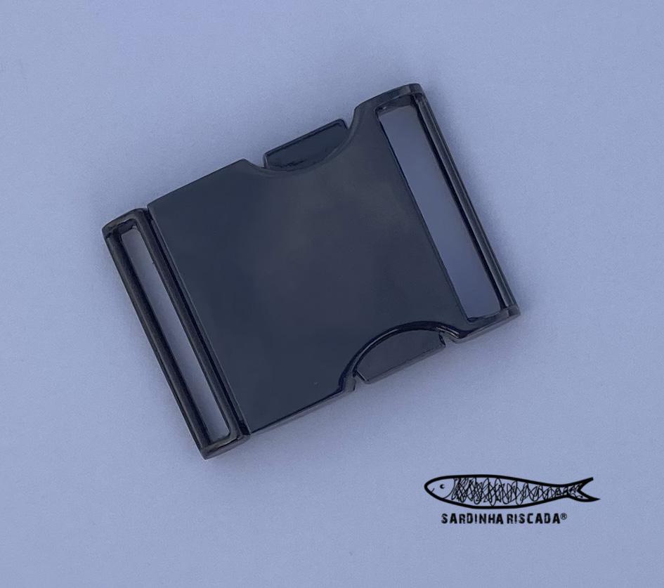Fecho metálico de 25mm - Antracite