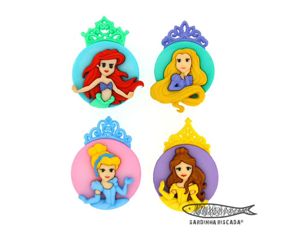 Botões Caras Princesas