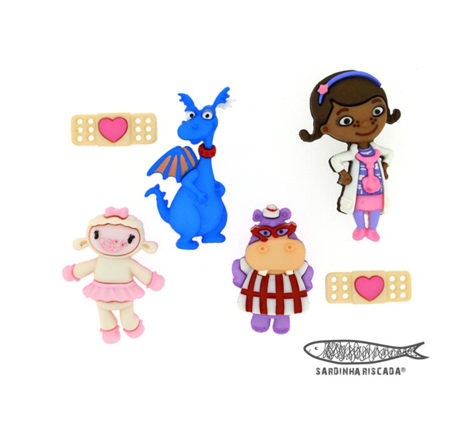 Botões Doutora Brinquedos