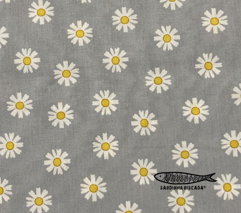 Daisy Flower - Cinza