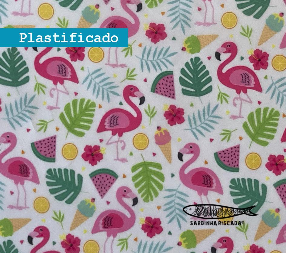 Flamingos Divertidos - Plastificado