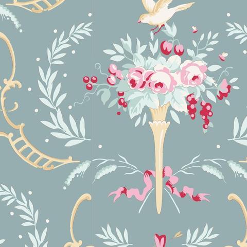 Tilda - Old Rose - birdsong teal