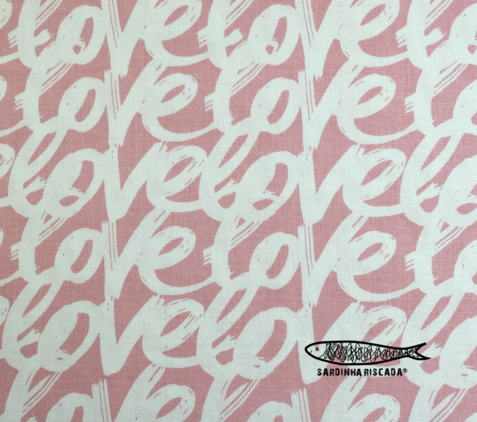 Love Story Words Pink