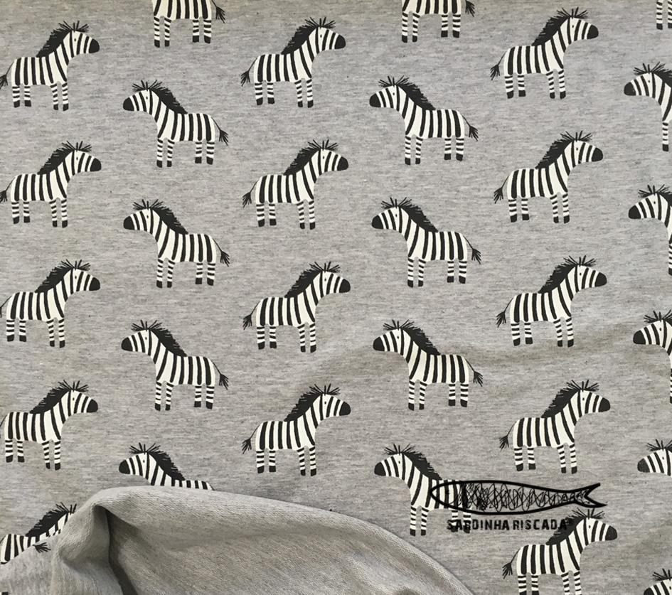 French Terry Zebras