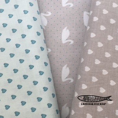 Love Story Hearts Teal