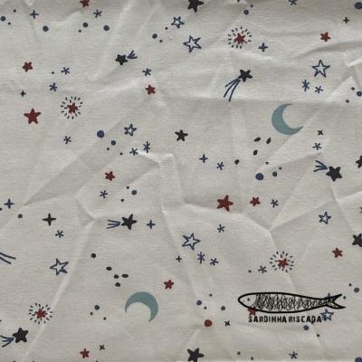 Espaço - Estrelas - Algodão Orgânico