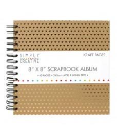 """Scrapbooking Album 8""""x8"""" - Corações"""