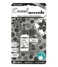Enamel Accents Black&White