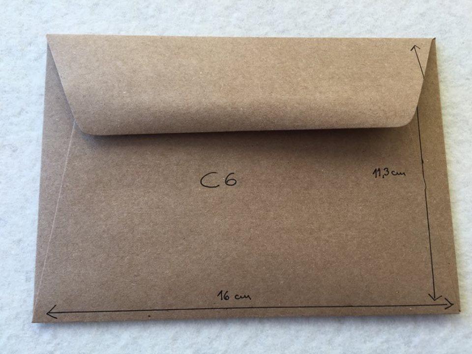 Envelope Kraft C6
