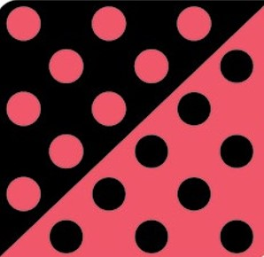 Círculos Vermelho/Preto