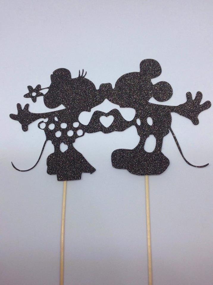 Topper Mickey e Minie Glitter