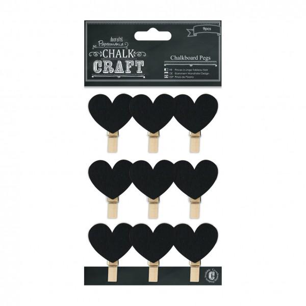 Chalkboard Pegs - Hearts