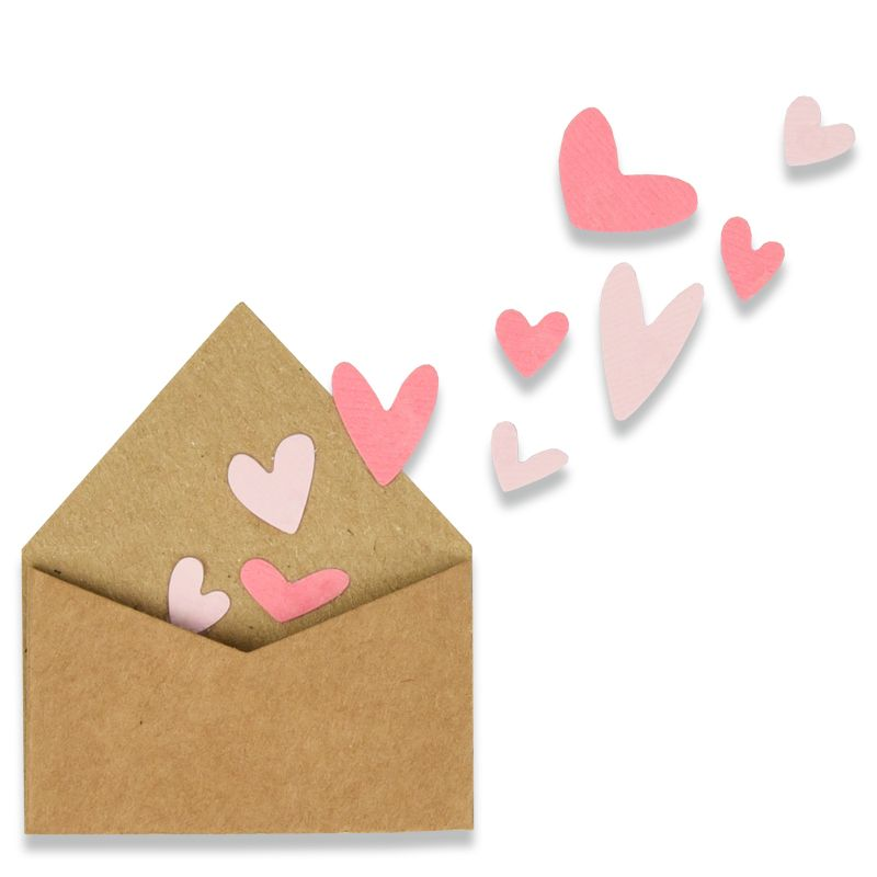 With Love Envelope W/Hearts