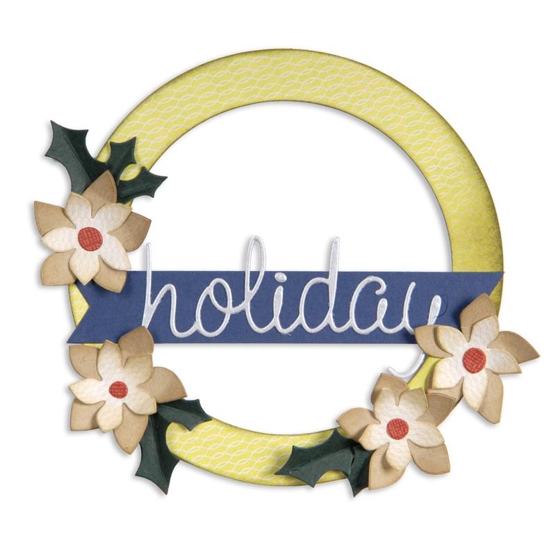 Wreath, Banner, Holly & Poinsettia by Basic Grey