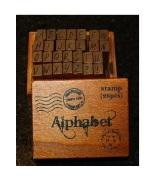 Wooden Alphabet Stamps