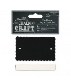Chalkboard Tag & Chalk Set - Scalloped