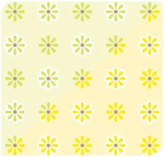 Flor Ice Verde Lima / Amarelo
