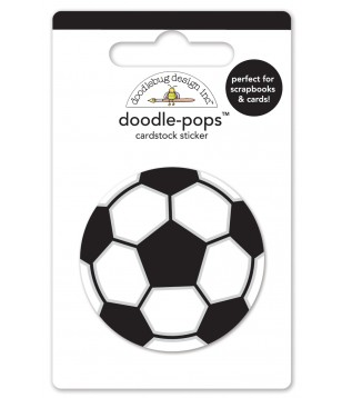 Etiquetas Adesivas 3D Bola Futebol