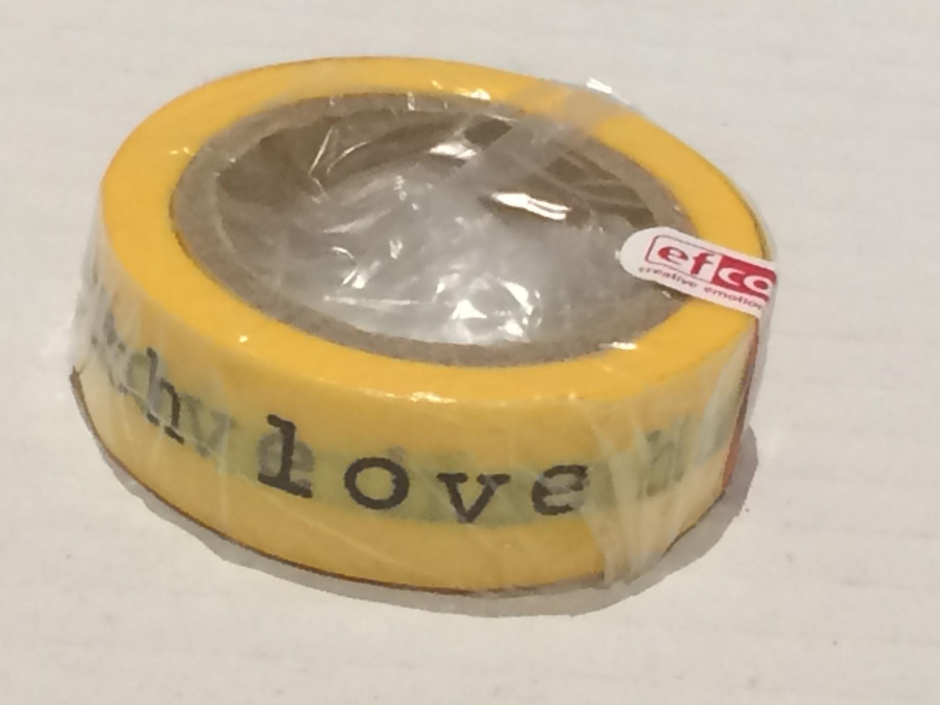 Handmade With Love Amarelo