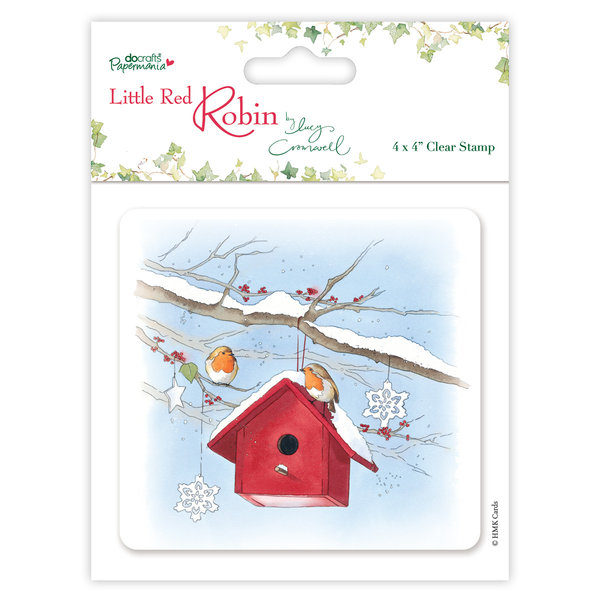 Little Red Robin Bird House