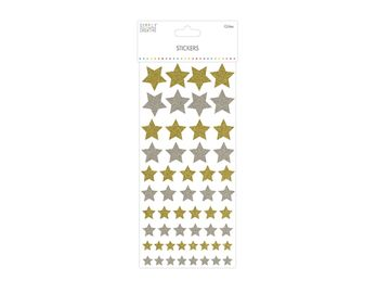 Christmas Glitter Stickers - Stars