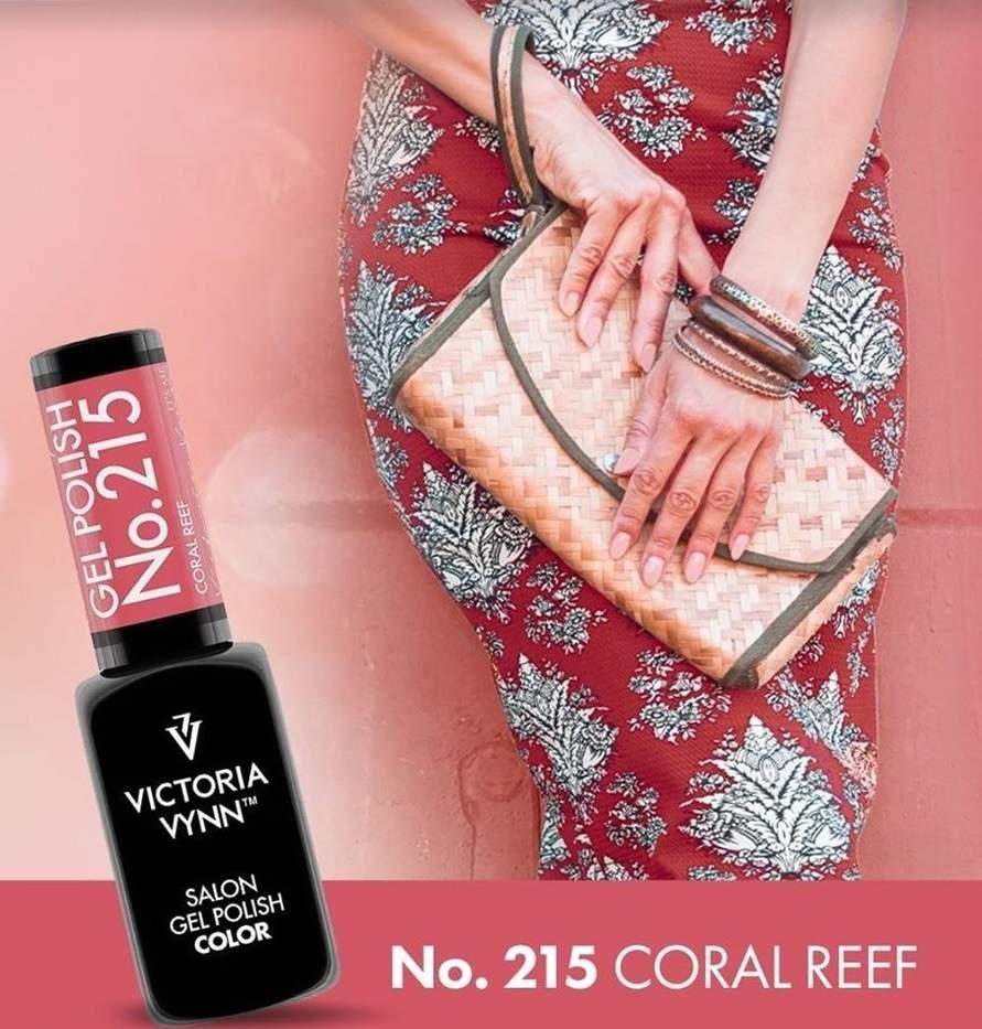 Victoria Vynn Verniz Gel Nº 215 - Coral Reef - 8 ml