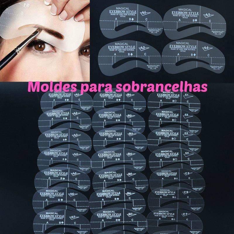 Moldes para sobrancelhas - 3 Moldes