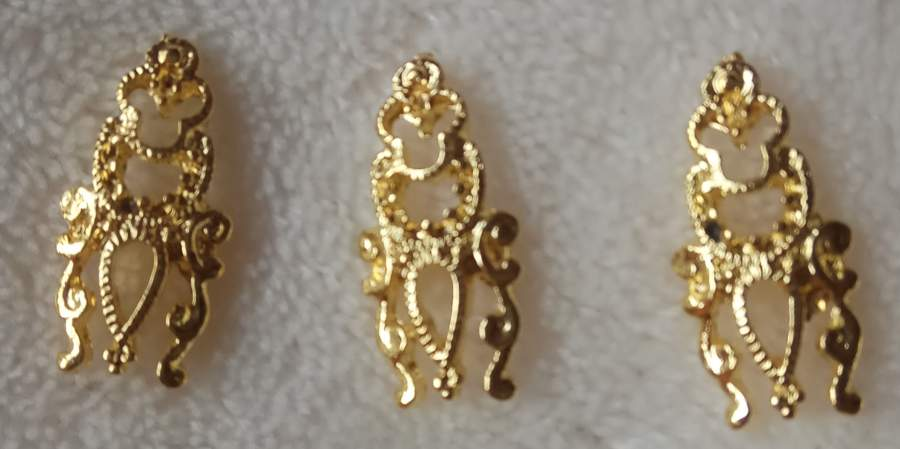 Peça Dourada 3D - Grande - 5 Unidades