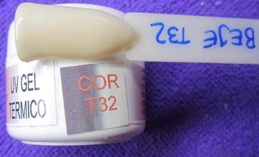 Gel Térmico T32 - Bege / Castanho com Glitter