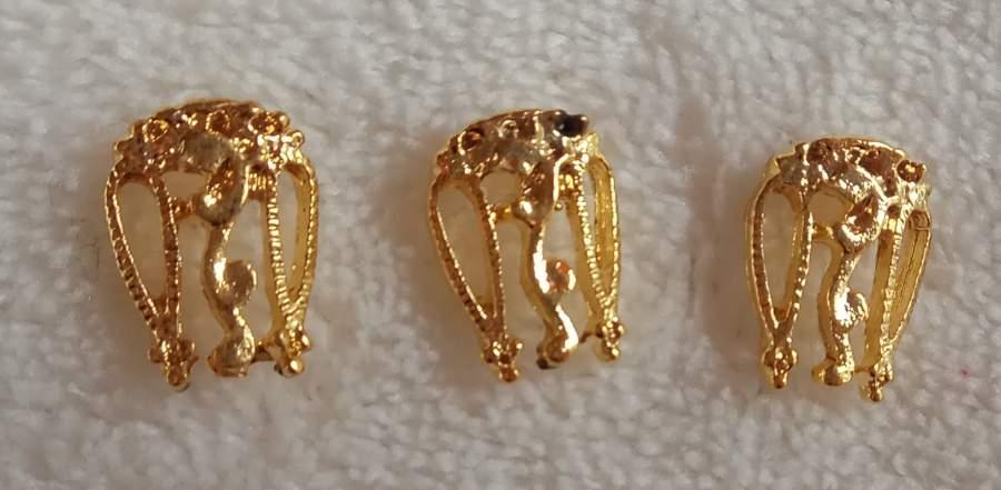 Peça Dourada 3D - Pequena - 5 unidades