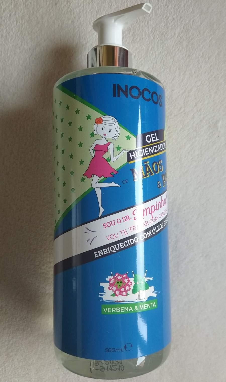 Gel Higienizador de Mãos e Pés Inocos - Verbena e Menta - 500 ml