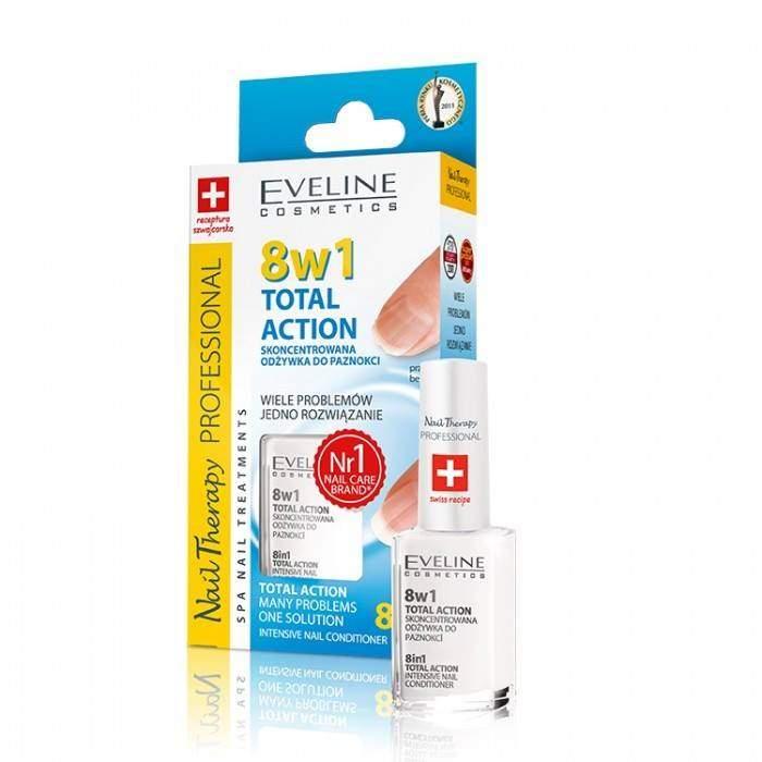 Eveline Nail 8 em 1 total action - 12 ml