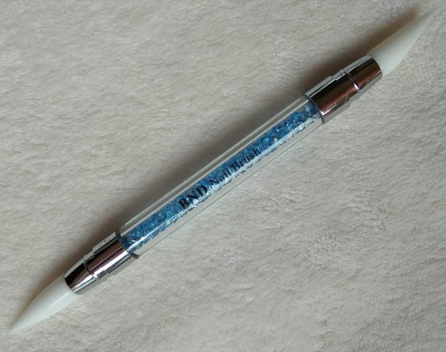 Pincel de Silicone com cristais - Azul
