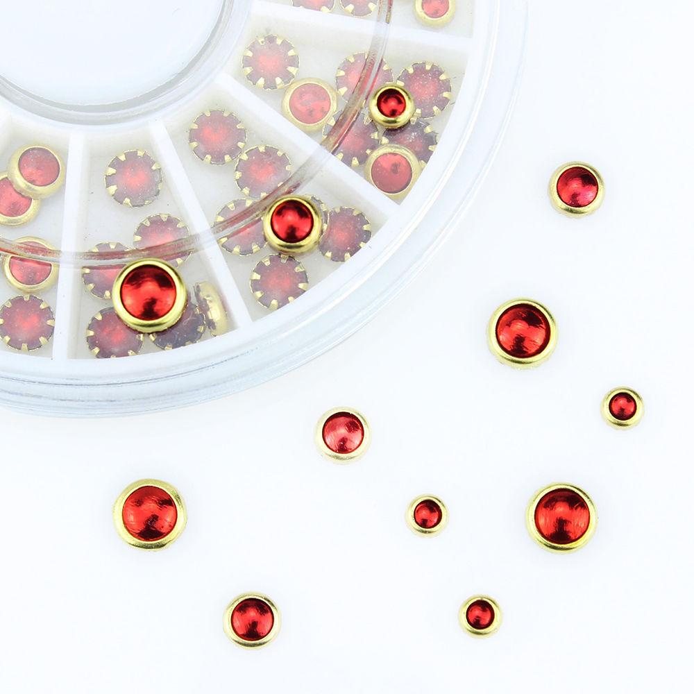 Rodinha Brilhantes Vermelhos com Dourado à volta