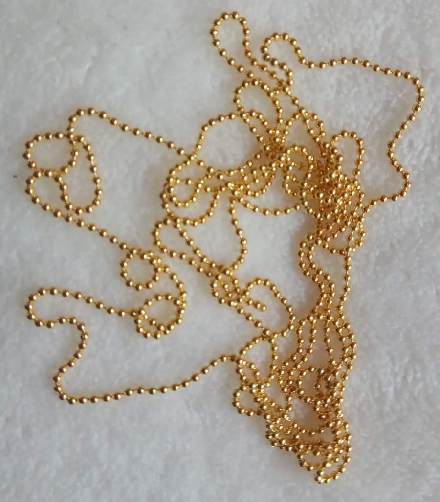 Colar Dourado para Nail Art
