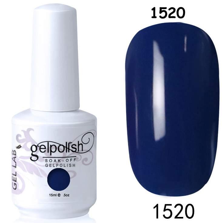 Gel Polish 1520 Azul escuro - 15 ml