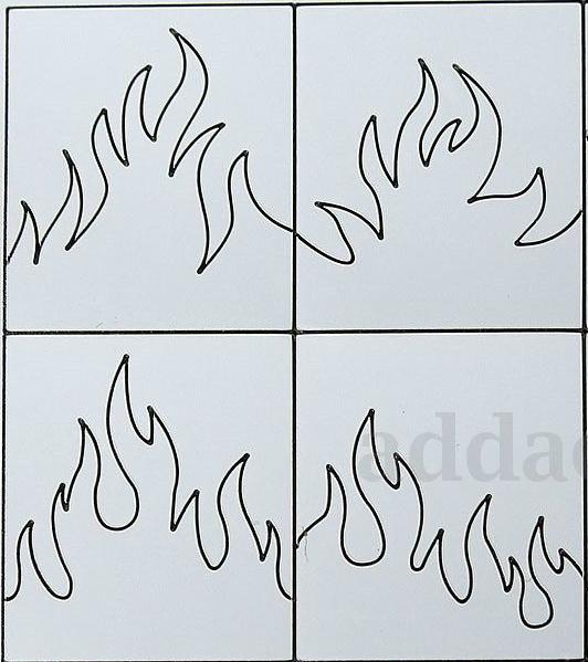 Stencil Fogo