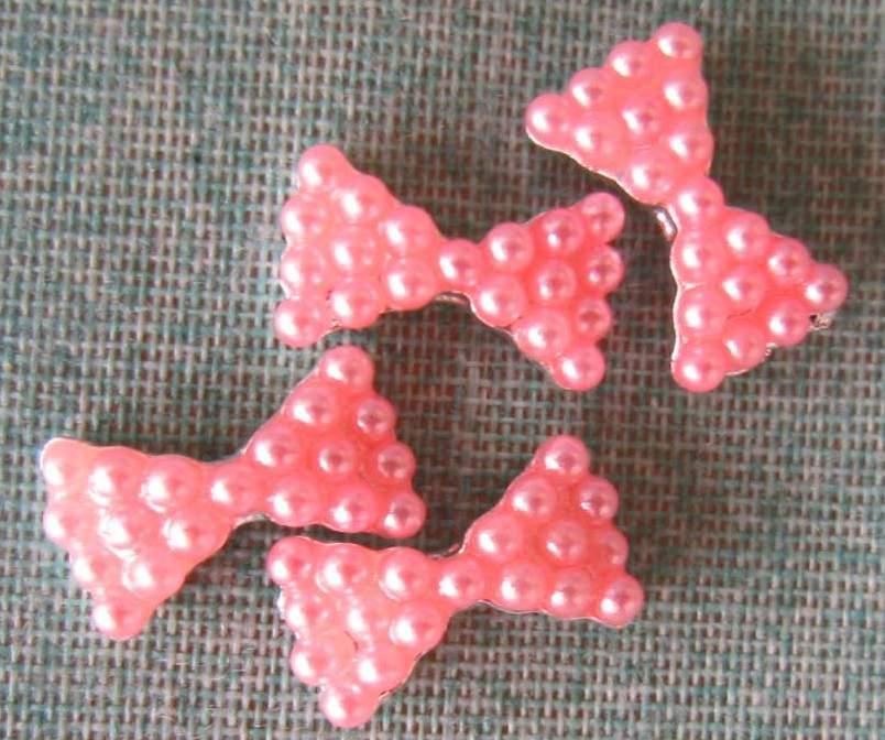 Laços Cor de Rosa Caviar - 1 Par