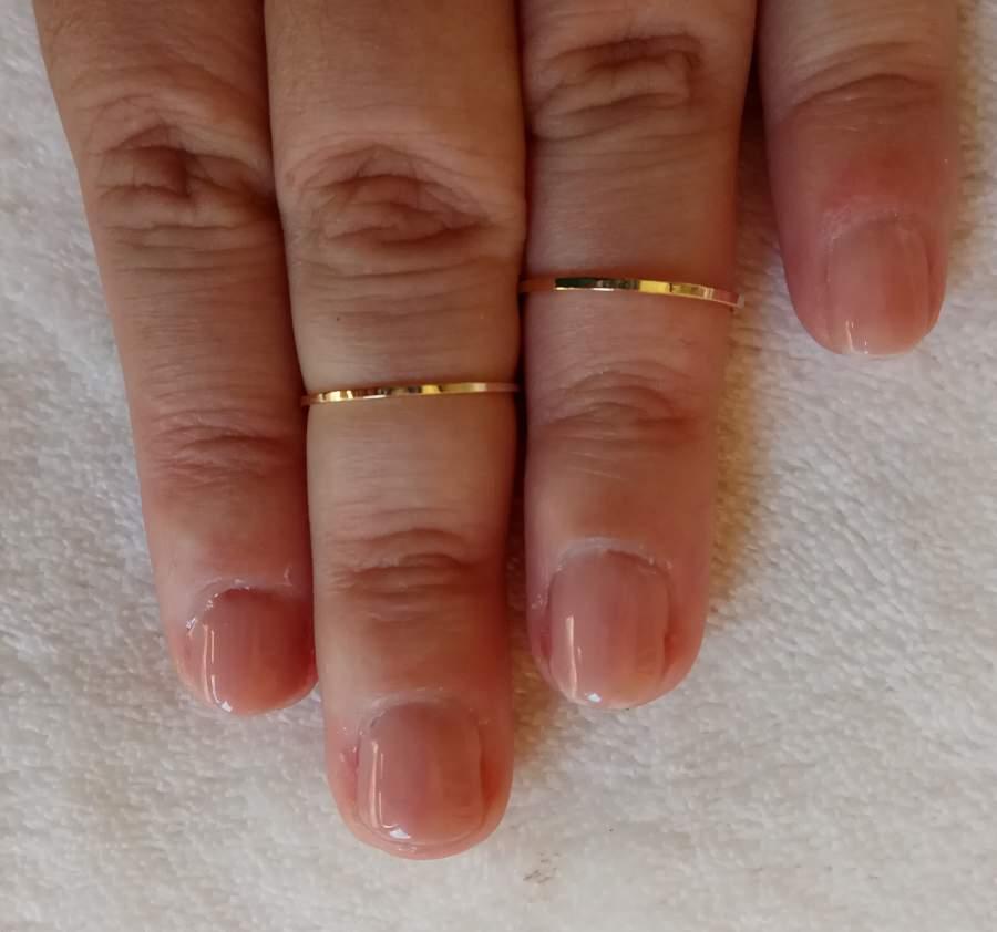 Anel de Falange Dourado - Fino