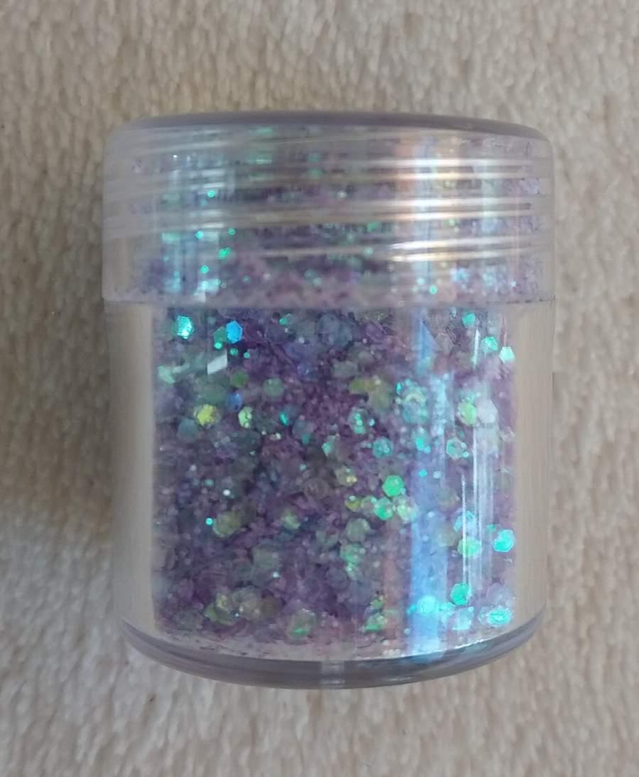 Glitter e Confetis Lilás e Azul - 10 Gr