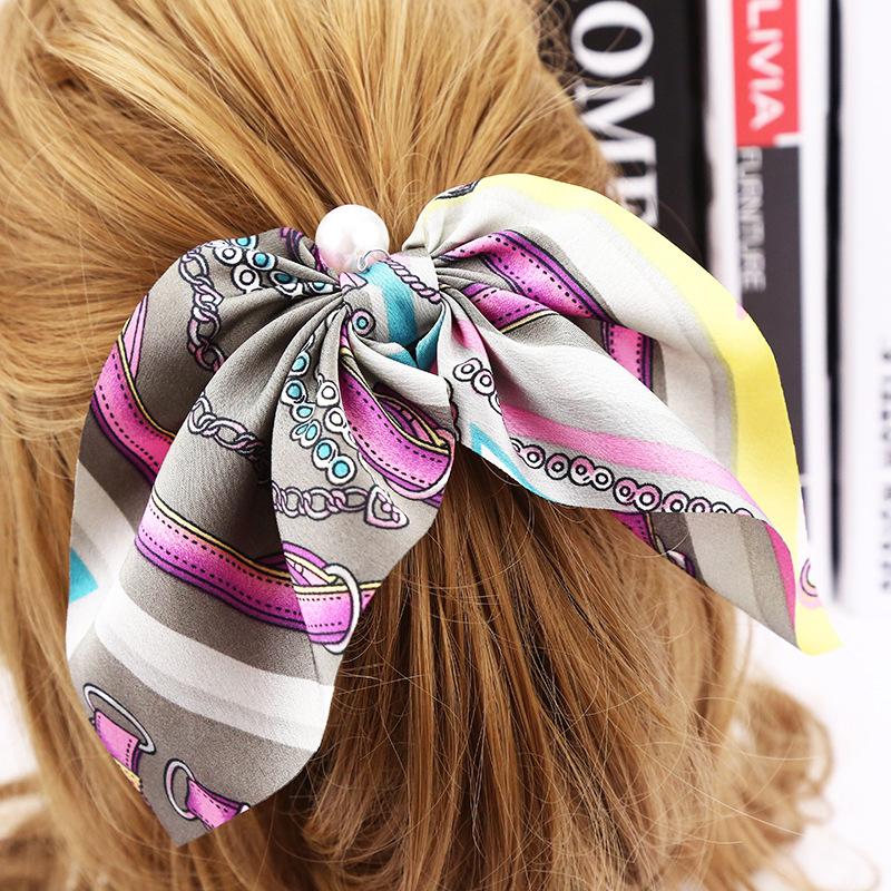 Scrunchie para o cabelo com Pérola - Modelo 5