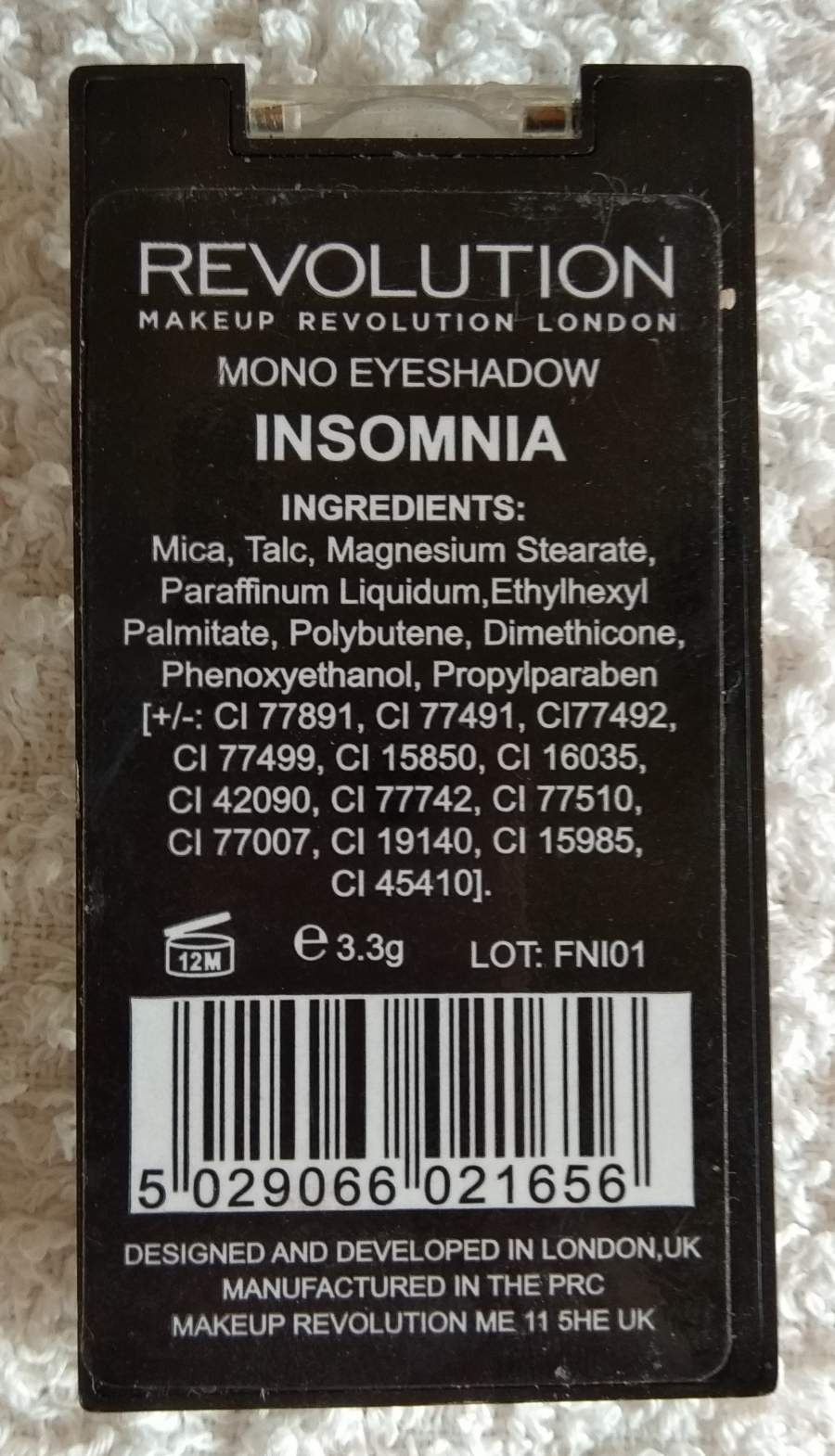 Sombra de Olhos Insomnia - Make Up Revolution