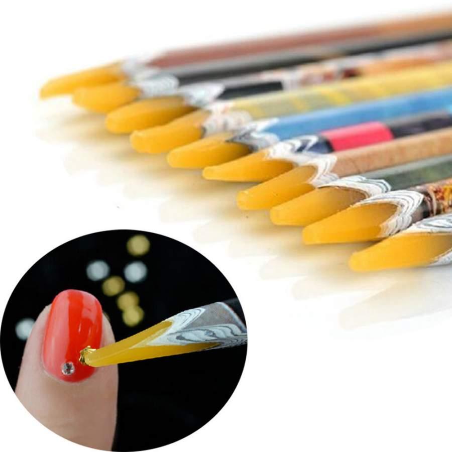 Lápis com borracha para pegar pedrinhas