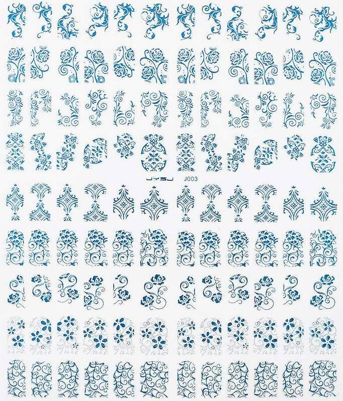 Autocolantes com Cornucópias 3D - Azul