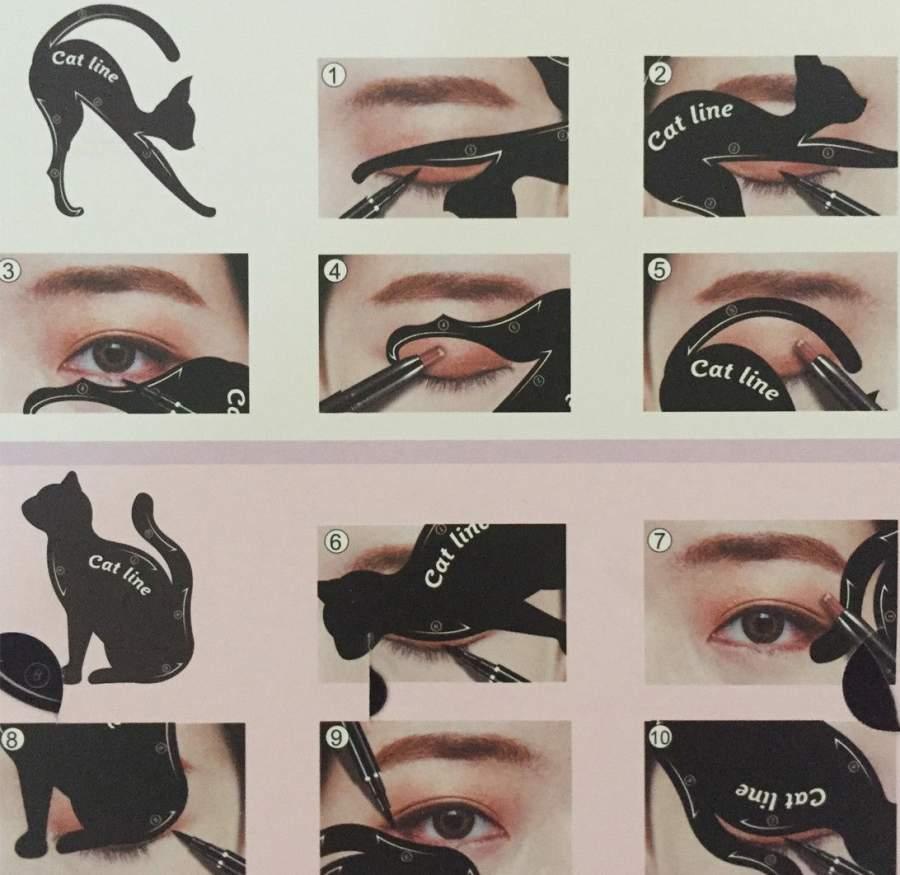 Molde para Eyeliner em forma de gatinho