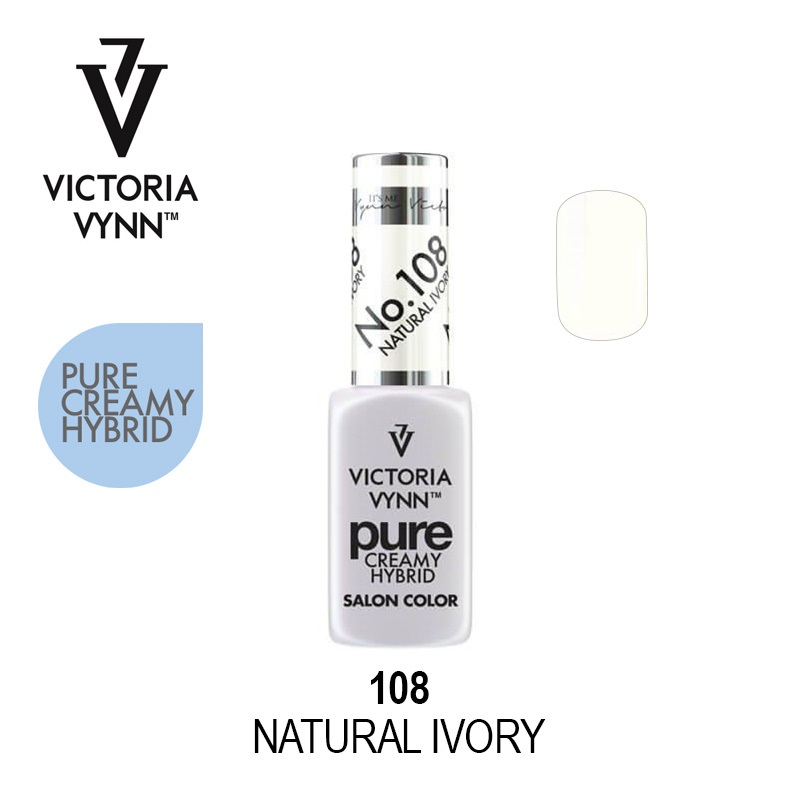 Victoria Vynn Verniz Gel Nº 108 - Natural Ivory (Leitoso) - 8 ml