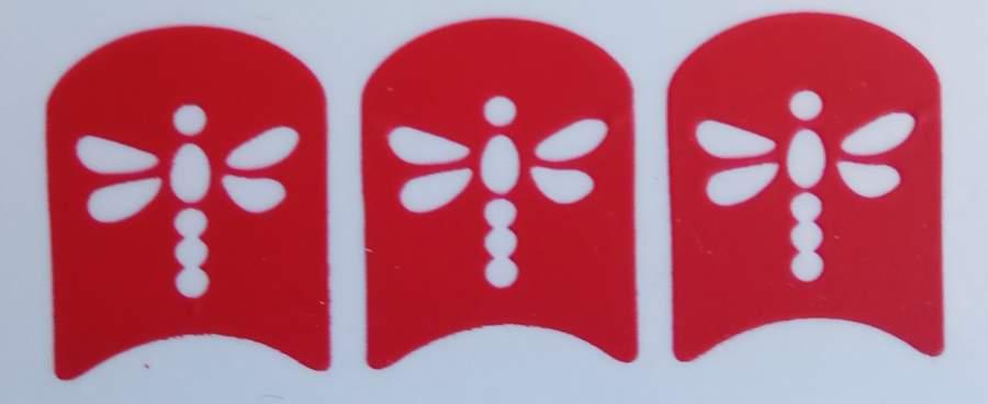 Stencil Libélulas